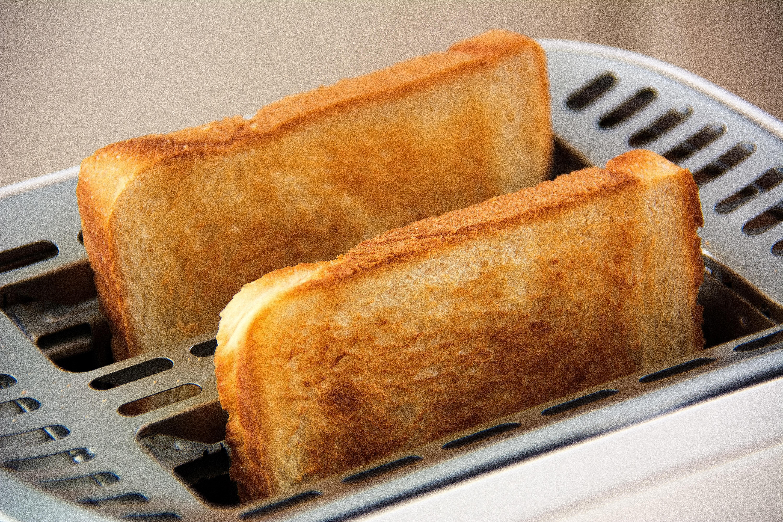 Vitt rostat bröd